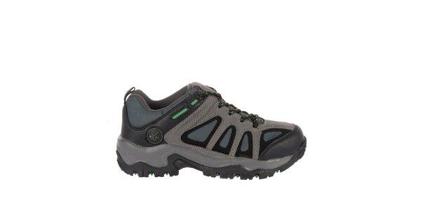 Pánska tmavo šedá outdoorová obuv Pralyas