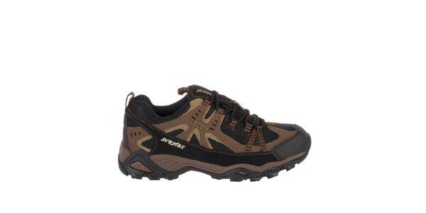 Pánska hnedá outdoorová obuv Praylas