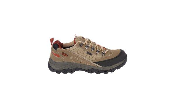 Pánske béžové šnúrovacie topánky Praylas