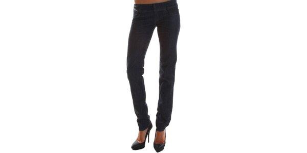 Dámske čierne predĺžené skinny džínsy Diesel
