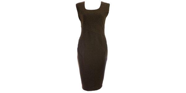 Dámske khaki púzdrové šaty JDC London