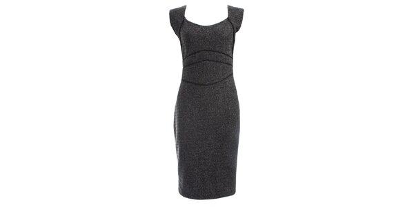 Dámske šedočierne šaty JDC London