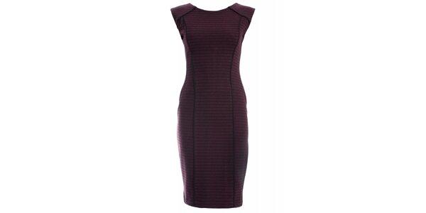 Dámske vínové šaty JDC London púzdrového strihu