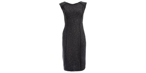 Dámske šedočierne šaty JDC London púzdrového strihu