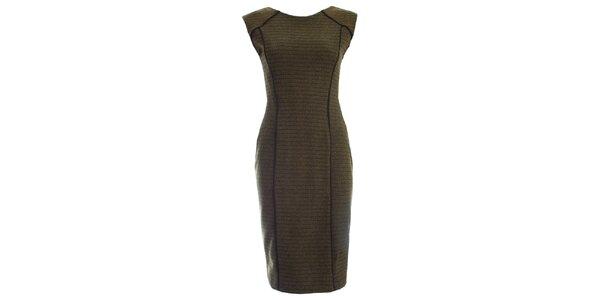 Dámske khaki šaty JDC London púzdrového strihu