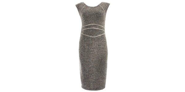 Dámske šedé šaty bez rukávov JDC London