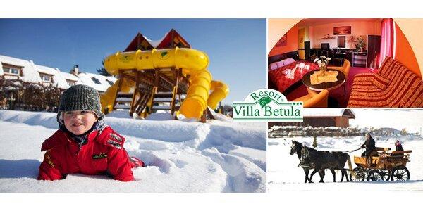 Zimná rodinná dovolenka na Liptove