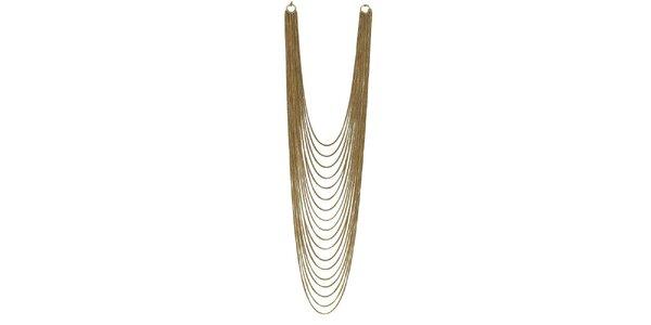 Dámsky mnohoradový zlato tónovaný náhrdelník Esprit