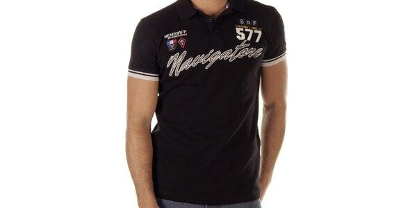 Pánske čierne polo tričko s nápisom Bendorff