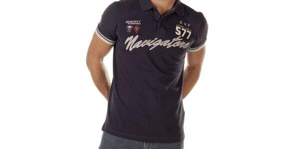 Pánske modré polo tričko s nápisom Bendorff