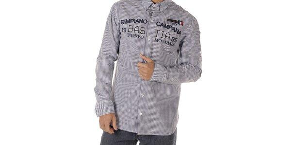 Pánska kockovaná košeľa s nášivkami Bendorff