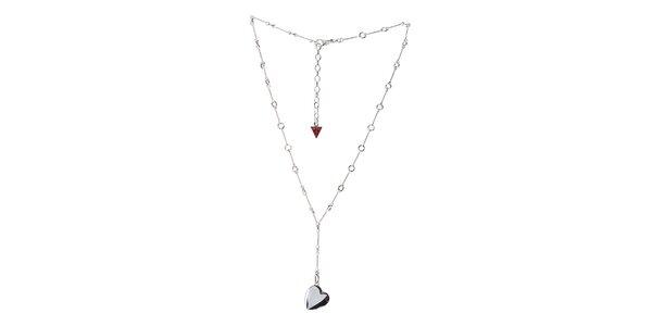 Dámsky ocelový náhrdelník Guess so srdiečkom