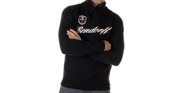 Pánsky čierny sveter s nášivkou Bendorff