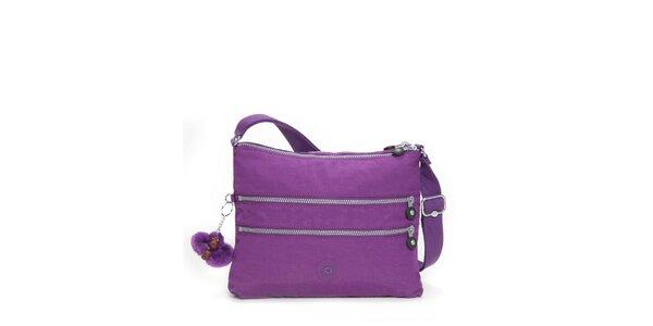 Dámska purpurová taštička Kipling s ozdobnými zipsami