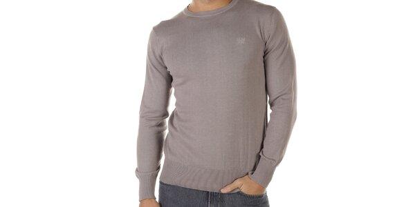 Pánsky šedohnedý sveter Bendorff