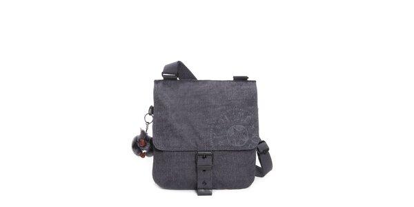Temne šedivá kabelka s prackou Kipling