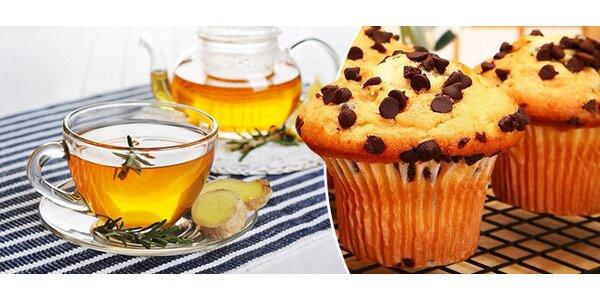 Zázvorový čaj a muffin pre 2 osoby