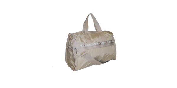 Zlatavá cestovná taška LeSportsac