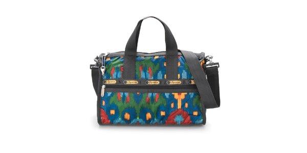 Modro-červená víkendová taška LeSportsac