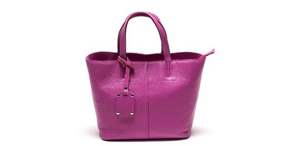 Dámska fuchsiová kabelka s visačkou Luisa Vannini