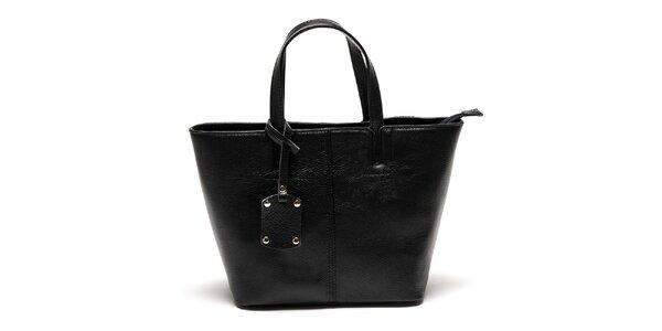 Dámska čierna kabelka s visačkou Luisa Vannini