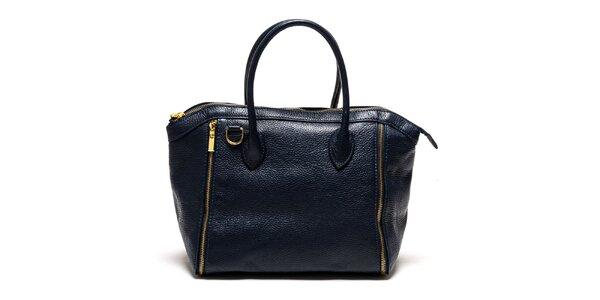 Dámska modrá kabelka so zipsami Luisa Vannini