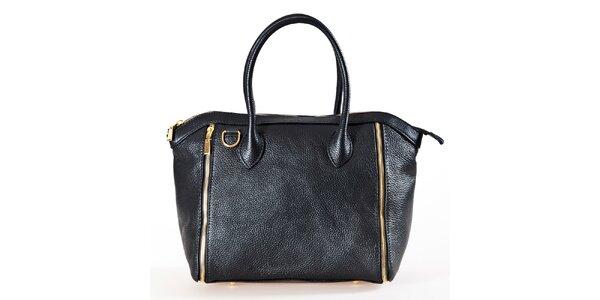 Dámska čierna kabelka so zipsami Luisa Vannini