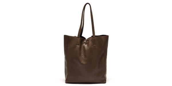 Dámska hnedá kabelka s vnútorným vreckom Luisa Vannini