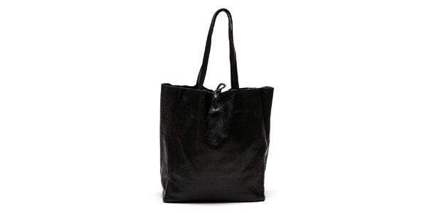 Dámska čierna kabelka s vnútorným vreckom Luisa Vannini
