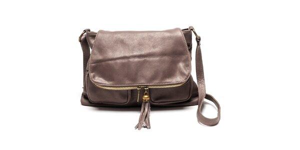 Dámska kožená kabelka cez rameno Luisa Vannini