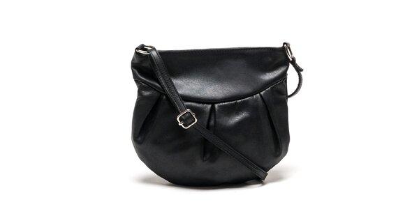Dámska zaoblená čierna kabelka Luisa Vannini