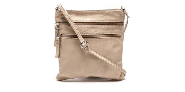 Dámska svetlo hnedá kabelka cez rameno Luisa Vannini