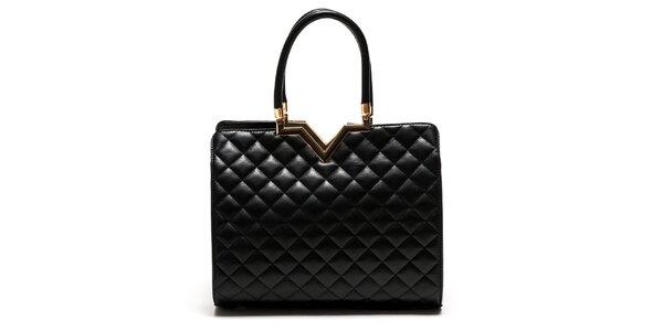 Dámska čierna elegantná kabelka Luisa Vannini