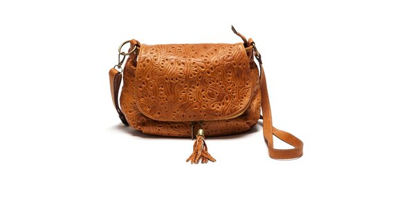 Dámska kožená kabelka so vzorom Luisa Vannini
