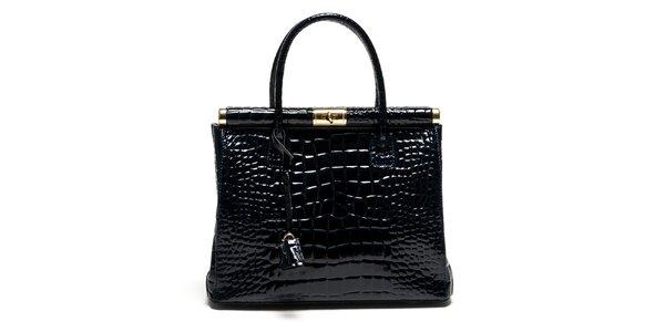 Dámska modrá kabelka so zámčekom Luisa Vannini