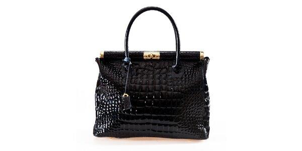 Dámska čierna kabelka so zámčekom Luisa Vannini