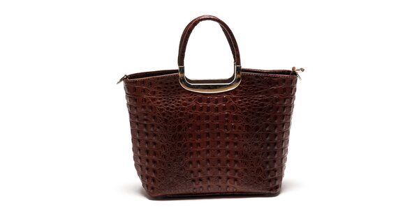 Dámska kabelka z pravej kože v hnedej farbe Luisa Vannini
