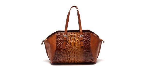 Dámska koňaková kabelka so vzorom Luisa Vannini