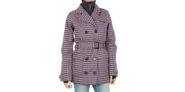 Dámsky fialovo kockovaný funkčný kabát Bench