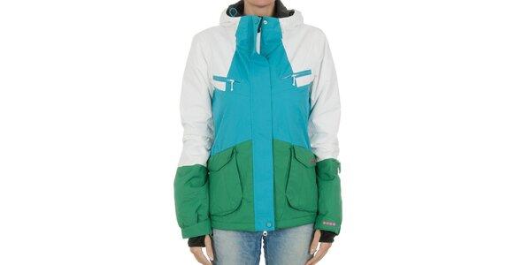 Dámska zimná bunda Bench modro-zelená