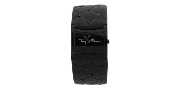 Dámske čierne hodinky Thierry Mugler