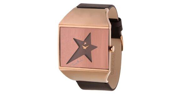 Dámske hodinky s ciferníkom v tvare hviezdy Thierry Mugler