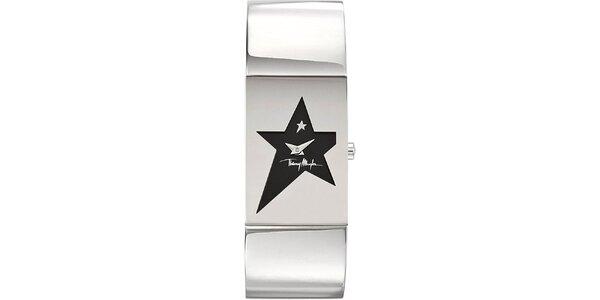 Dámske originálne hodinky z nerezovej ocele Thierry Mugler