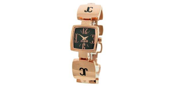 Dámske oceľové náramkové hodinky Just Cavalli v ružovo zlatej farbe