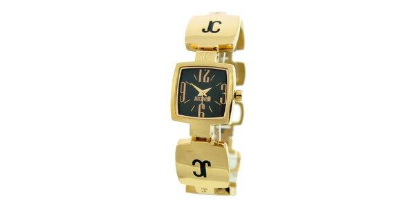 Dámske oceľové náramkové hodinky Just Cavalli v zlatej farbe
