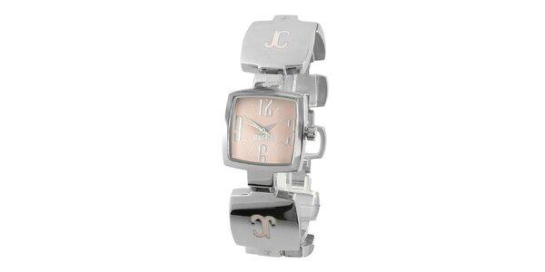 Dámske oceľové náramkové hodinky Just Cavalli s hranatým ciferníkom