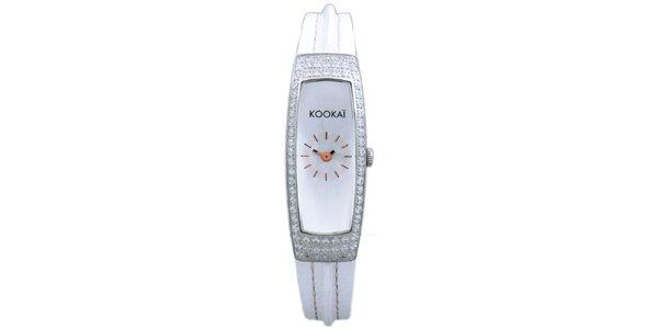 Dámske biele hodinky Kookai s trblietavým ciferníkom