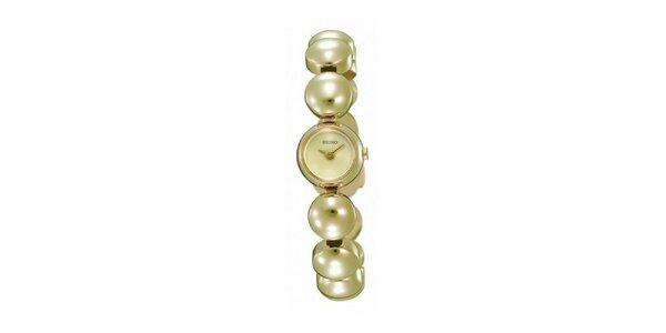 Dámske hodinky s korálkovým remienkom Seiko