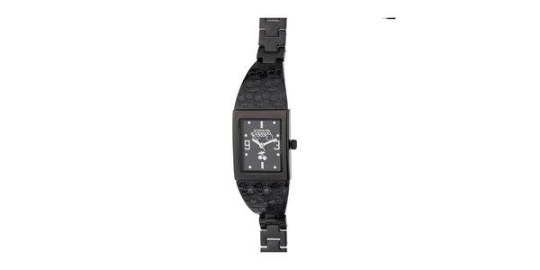 Dámske čierne hodinky s čerešničkami Le Temps des Cerises