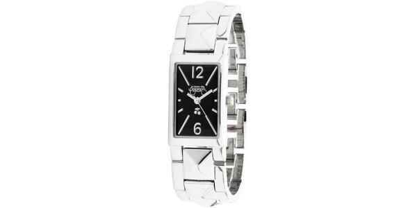 Dámske striebornej hodinky s čiernym ciferníkom Le Temps des Cerises